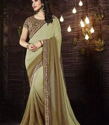 Buy light green embroidered georgette saree with blouse georgette-saree online
