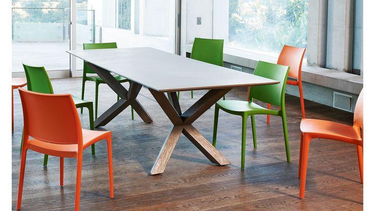 1 600 Concrete Top Teak Legs Anglo Rectangular Dining