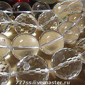Купить или заказать Горный хрусталь, бусина - кубик в интернет-магазине на Ярмарке Мастеров. Кубики с огранкой. размер 8 мм…