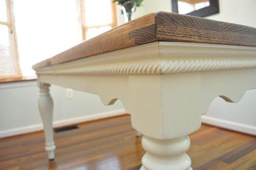 Diy pottery barn farmhouse table knockoff table legs for Farm table legs diy