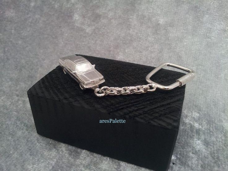 #mercedesbenz #mercedes #german #cars #carjewelry #handmade #jewelry #keychains#silver http://Mercedes Benz W 123 Keychain-925 Silver-Handmade (Free Standard Shipping)