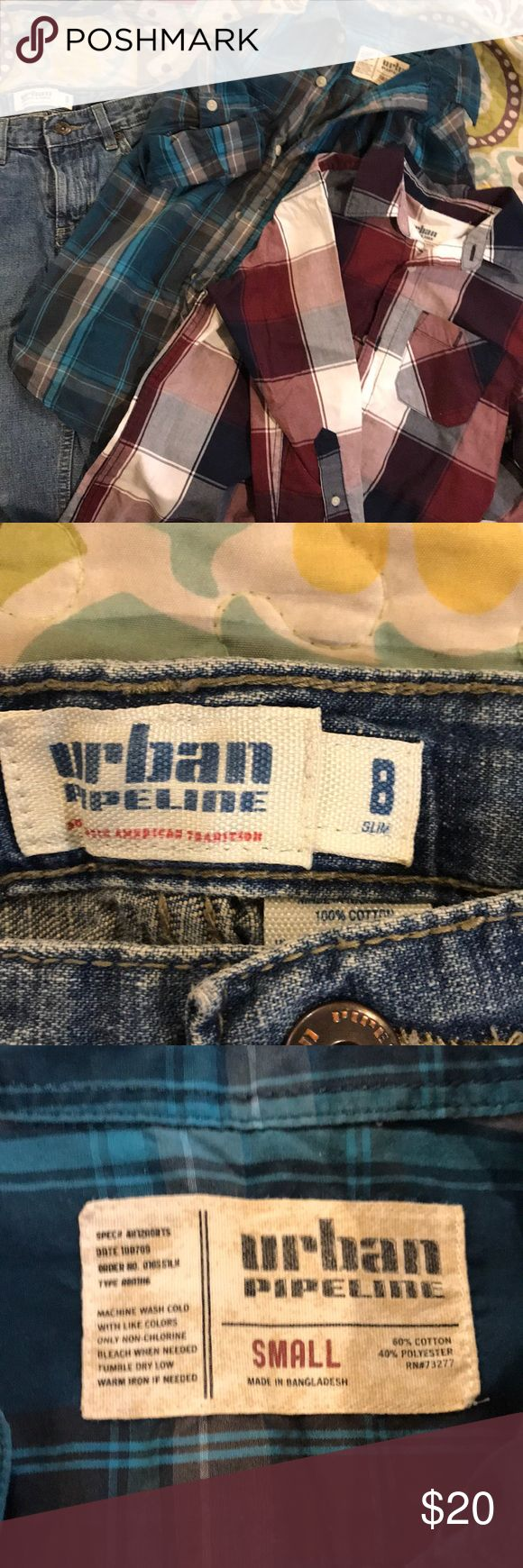 Lot of Urban Pipeline from Kohl's 8slim jeans and two long
