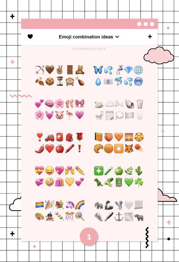Cute Emoji Combinations To Copy And Paste Lu Amaral Studio In 2020 Emoji Combinations Cute Emoji Combinations Cute Emoji