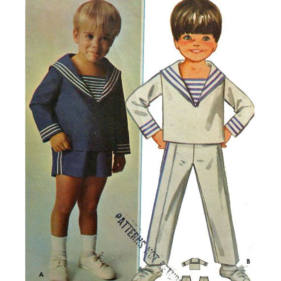 british hair styles schnittmuster f 252 r matrosenanzug f 252 r jungen vintage 4491 | 0255385a22a8a8adef15ad0e3cb336ca boys sewing patterns collar top
