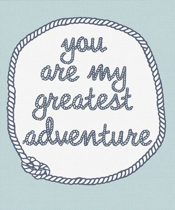 Gus & Lula Blue You Are My Greatest Adventure Print