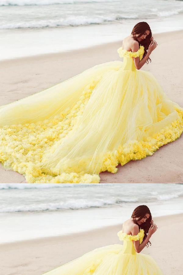 Delightful Ball Gown Dresses Yellow Dresses Yellow Wedding