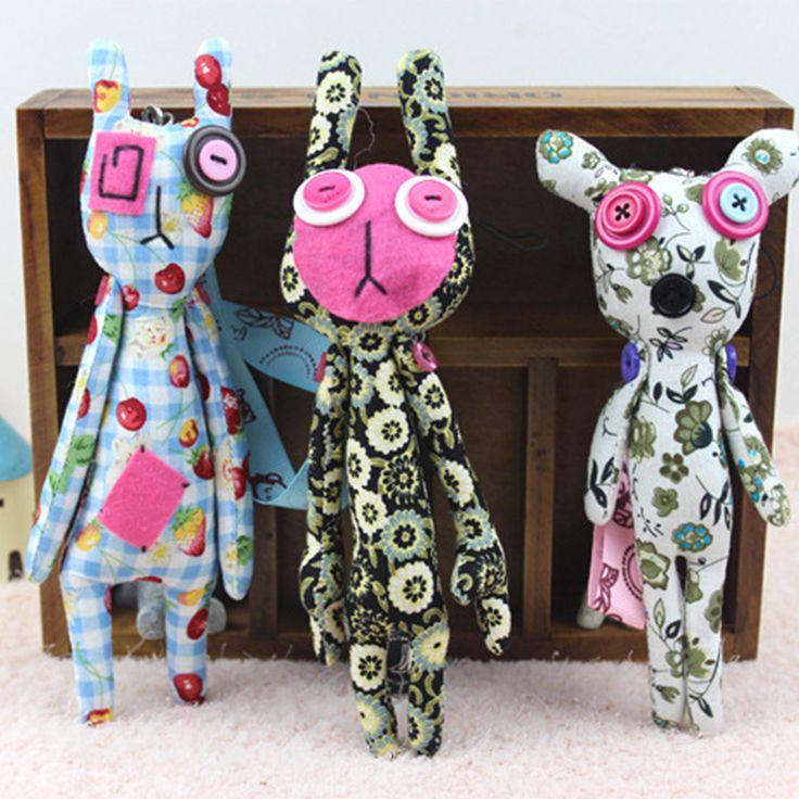 15-21CM Kawaii Plush Toys Handmade Buttons Cloth Stitch Giraffe Stuffed Animals  Minions Pokemon Plush Doll Kids Toys