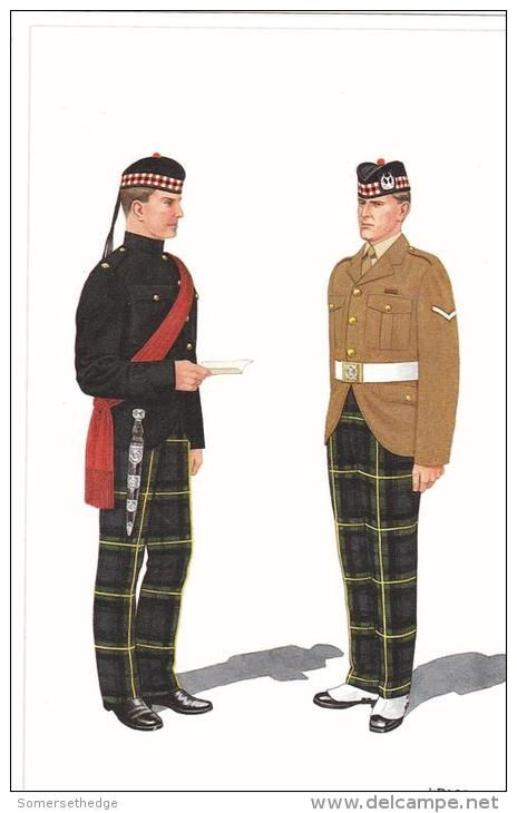 British; Gordon Highlanders, Orderly Officer & Lance Corporal