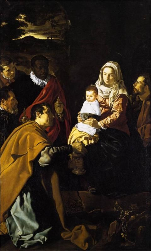 Diego Velázquez (Spanish 1559–1660) [Baroque, Portrait] Adoration of the Kings, 1619. Museo del Prado, Madrid.