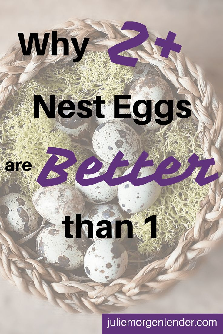 "When you hear ""nest egg"" you probably think of a retirement account, but that's not all it is. A nest egg is money saved up for any future purpose. There are a lot of ways this can look. Today we'll talk about how you might set up your nest eggs, and then I'll tell you..."