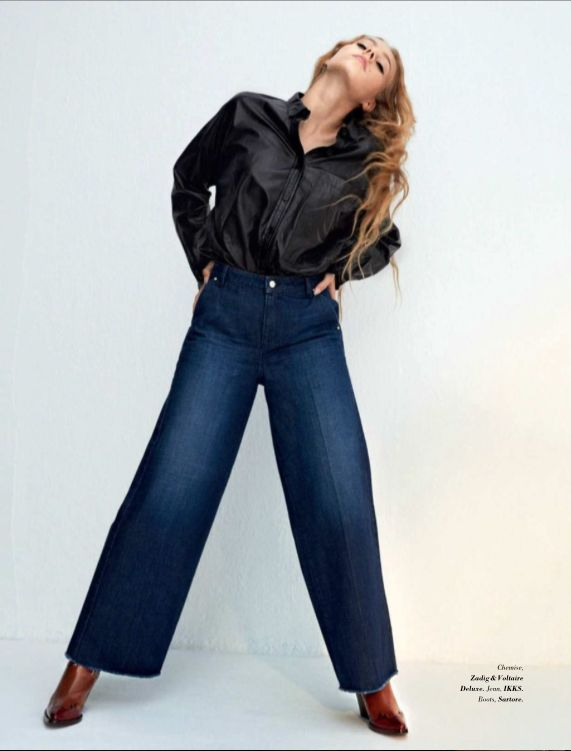 Vu dans Glamour - Novembre 2017 - le jean coupe droite IKKS Women #WomensFashion #AW17