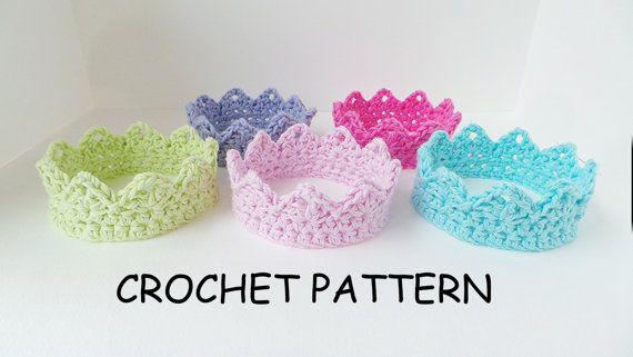 CROCHET CROWN PATTERN Baby Crochet Crown by KerryJayneDesigns, £2.25