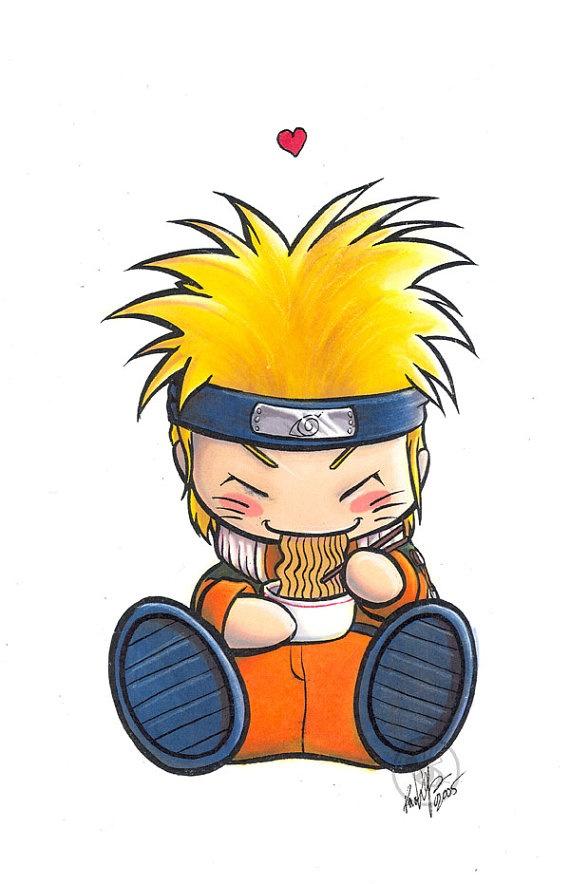 Chibi naruto from naruto waterproof sticker by bhstudios on etsy 3 00