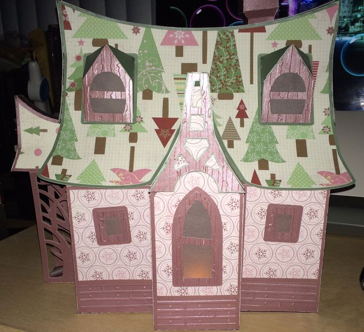 #svgcuts Bewitched cabin with a Christmas flare
