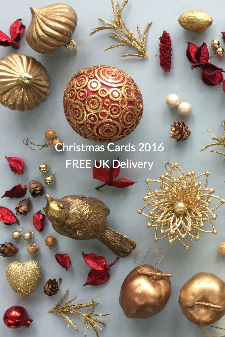 Beautifully designed Christmas cards intricately designed and hand foiled in England with silver and gold foil.