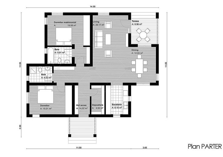 case de vis fara etaj Beautiful one story house plans 4
