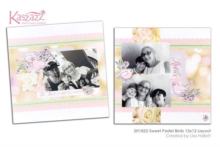 2H1822 Sweet Pastel Birds 12x12 Layout