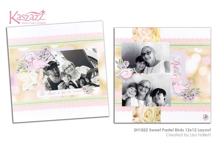 2H1822 Sweet Pastel Birds 12x12 Layout