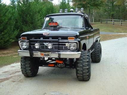 1965 Ford F-100 65 F100 4wd Monster Truck For Sale | OldRide.com