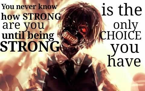 This is actually true. You don't have to be a hero to be strong. You never know that your strong enough to face something until you have no other choice but to face it.