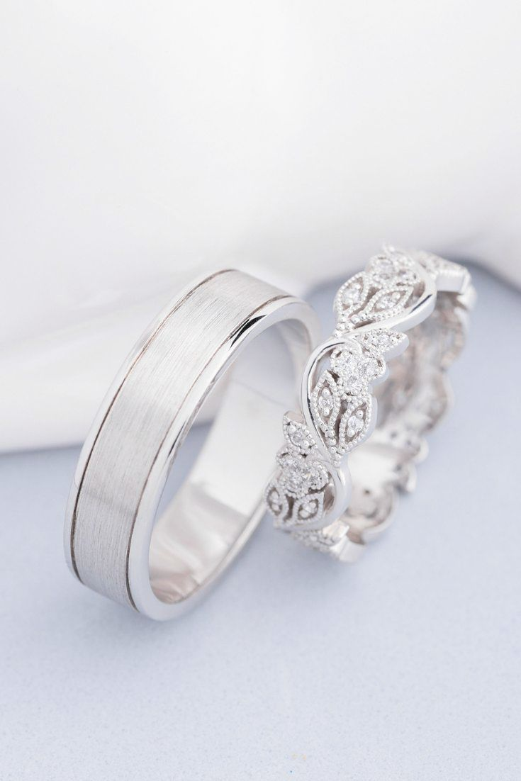 Wedding Ring Set Platinum Jewellery Gold Store What Jewellery Shop Near Me Open Now Every Wed Wedding Ring Sets Unique Cool Wedding Rings Couple Wedding Rings
