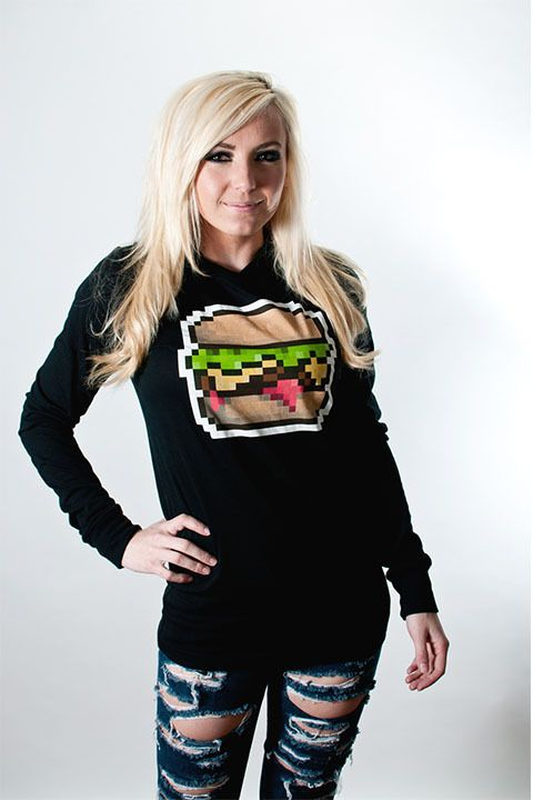 Pixel Burger Hoodie from Cherry Sauce Clothing