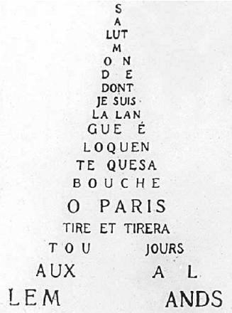 #Apollinaire -Calligrames, poèmes de paix et de guèrre-