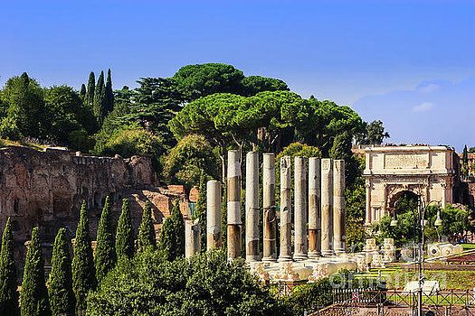 Rome, Italy - Via Sacra and Arch of Titus by Devasahayam Chandra Dhas