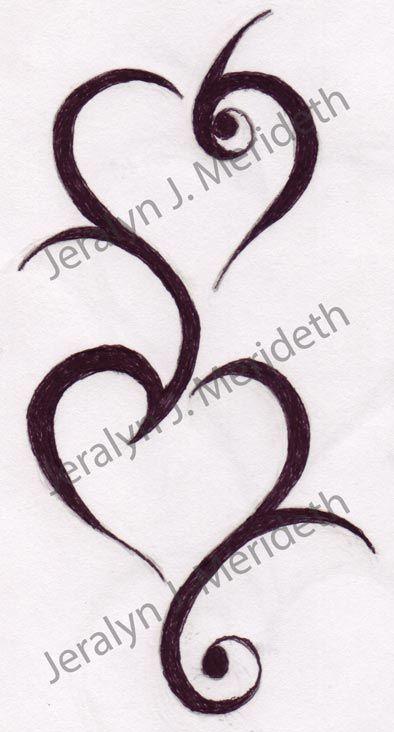 Double Tribal Heart Design 1 Tattoo Designs Pinterest Tattoo Tatting And Tatoos