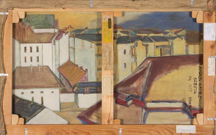 Dachy z żółtym niebem - Andrzej Wróblewski (1955)