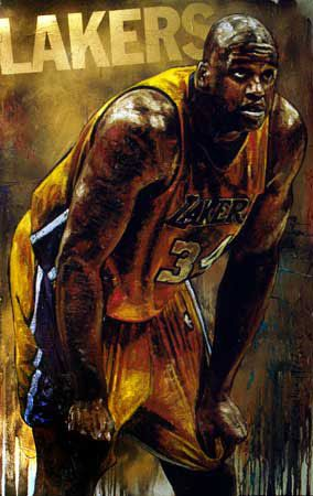 "Shaquille O'Neal ""Shaq"" LA Lakers ""Shaq GOLD"" By Stephen Holland #stephenholland"