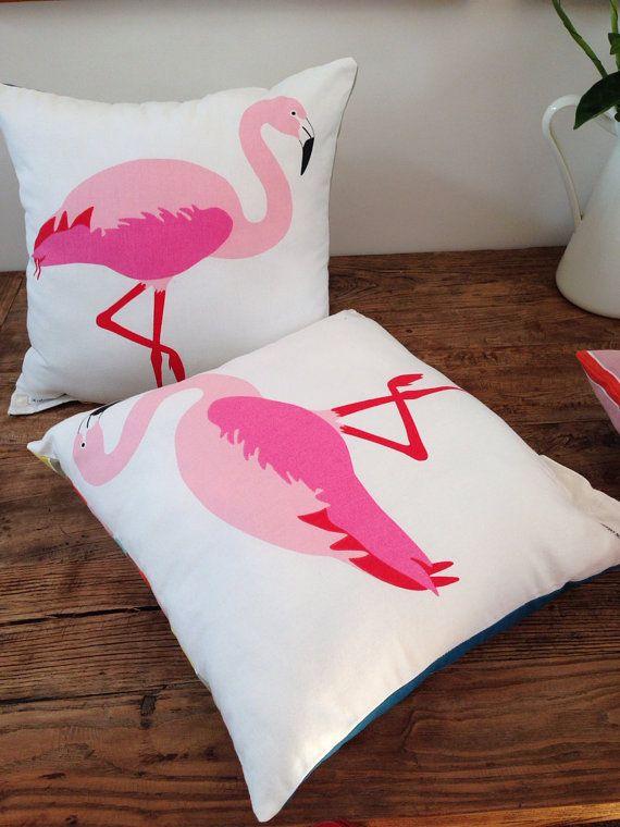 Flamingo Stripes - cushion 45 x 45 on Etsy, $39.00 AUD