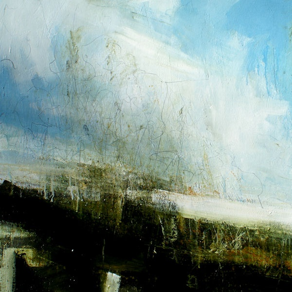 Lewis Noble Strong Wind, Sound of Crows 100x100cm oil on canvas
