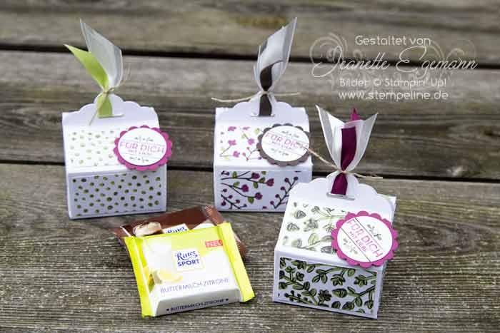 stampin up mini schokoladenverpackung Anleitung