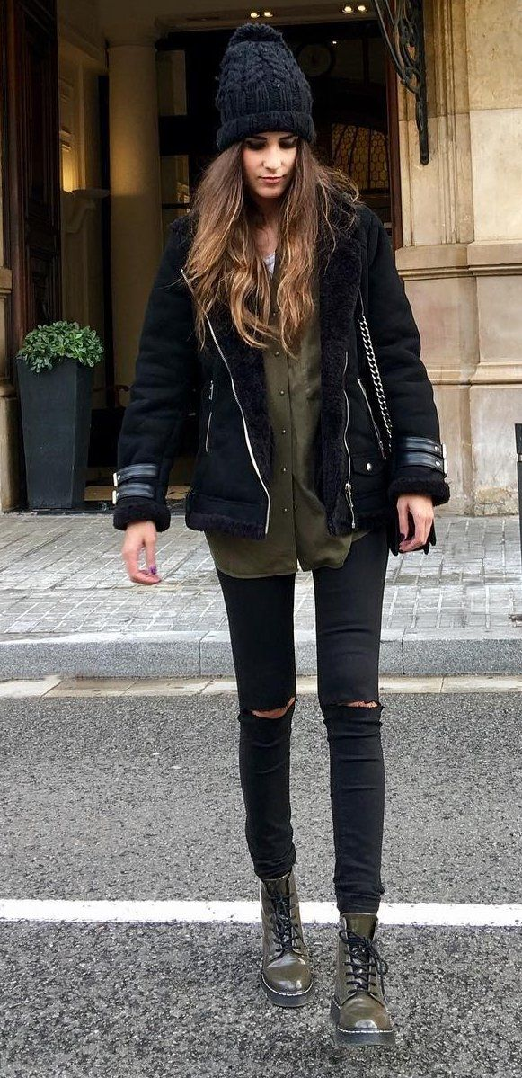 17 Best ideas about Black Shirt Outfits on Pinterest | Fall school ...