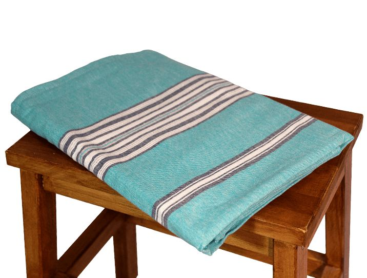 Nappe carree turquoise 2