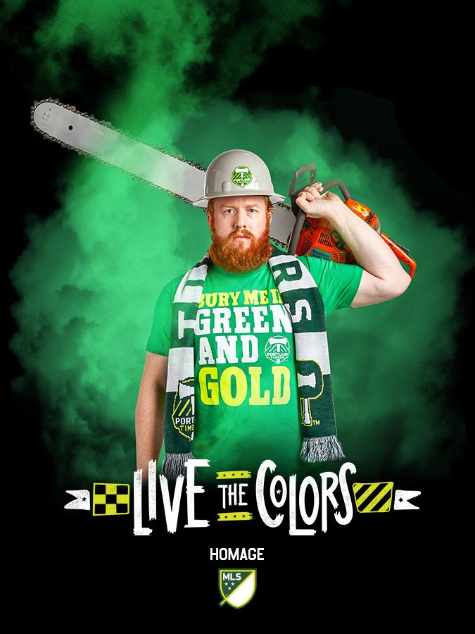 The park is calling! Greet Timber Joey in essential Green and Gold gear from your neck beyond your knees, and watch your @portlandtimbers take the league to the woodshed. Rose City 'til you die! #LiveTheColors