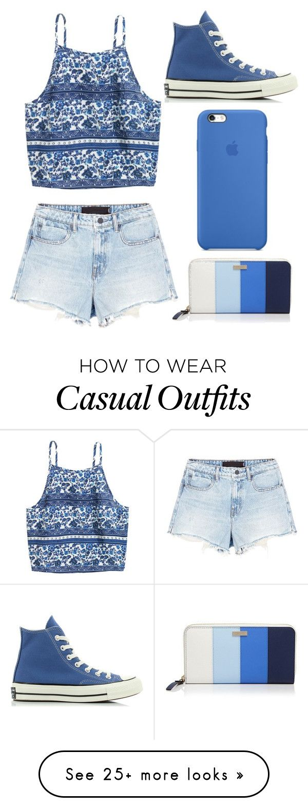 """Casual"" by missolivetree on Polyvore featuring Alexander Wang, Converse and Kate Spade"