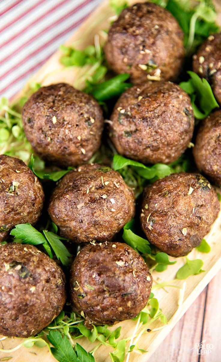 Greek-Style Meatballs: These meatballs feature your choice of beef or lamb, with mint, oregano, and plenty of garlic.