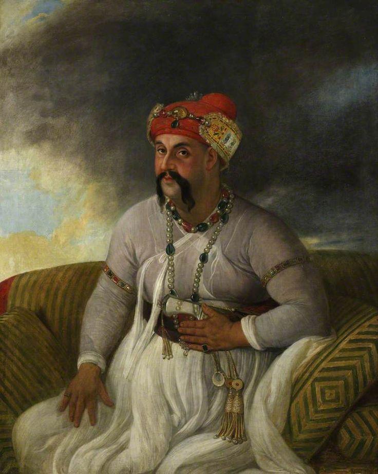 Asaf al-Daula, Nawab of Oudh (1775–1797), 1784 by Johann Zoffany
