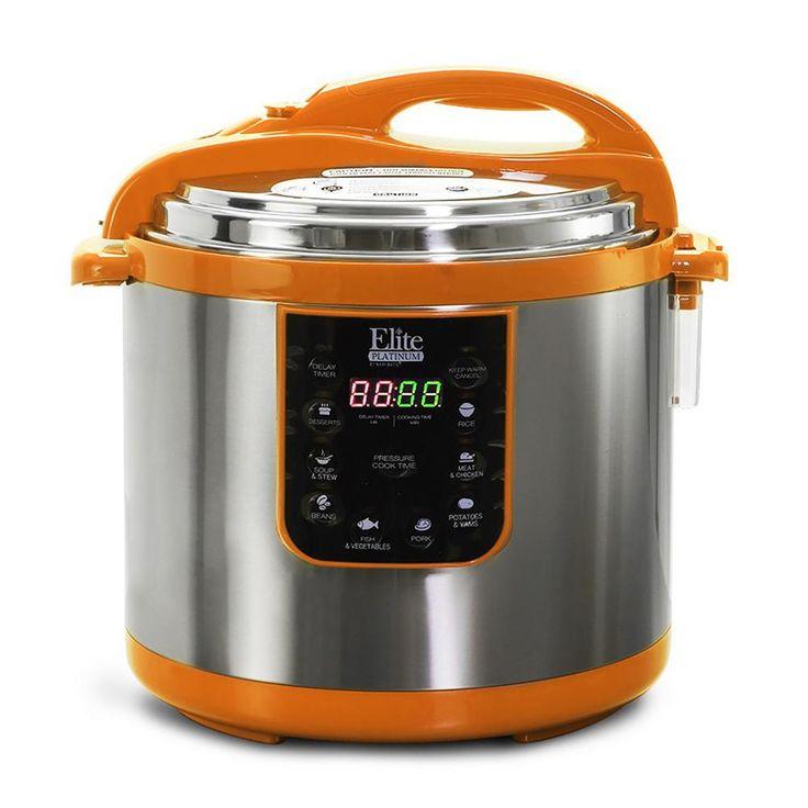 Platinum 10 Qt. Orange Electric Pressure Cooker