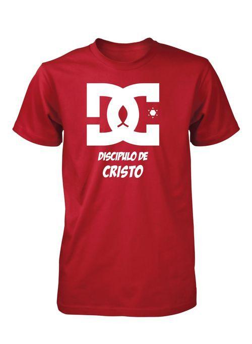Discipulo de Cristo DC Heroe Jesus Camiseta Cristiana                                                                                                                                                      Más