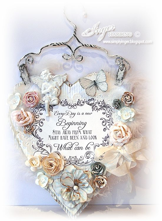Shabby Chic Wall Hanging Made By Inger Harding