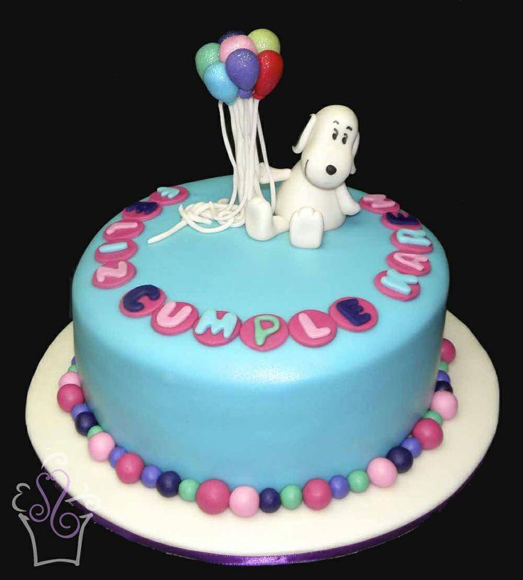 Snoopy Birthday Cake Cakes Snoopy Balloons Fondant
