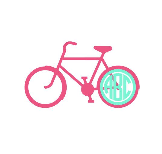 Monogram Bike Decal for car, laptop, cup, cell phone, Samsung, iphone, notebook, tumbler, boots, mailbox and MORE! by aSweetSouthernAccent on Etsy https://www.etsy.com/listing/220173177/monogram-bike-decal-for-car-laptop-cup