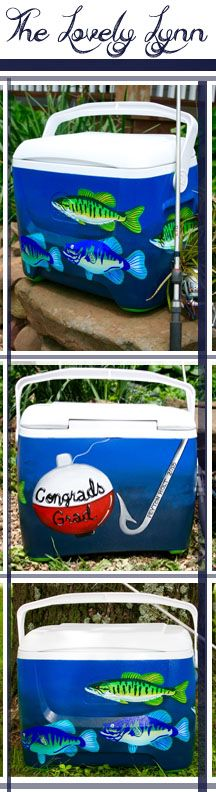 Who doesn't like to spend the day fishing at the lake? This is the perfect gift for someone who loves hooking worms and spending time outdoors! What would your ice chest have on it? Would yours be about canoeing, how you're a dog lover, or maybe something representing your fraternity or sorority. Order today by emailing Lynn!   ackley@arkwest.com