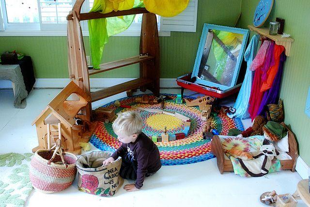Montessori, Waldorf, and Reggio-inspired playroom. WOH.