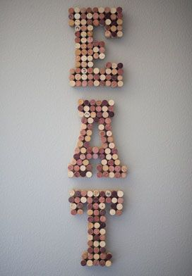 DIY: 3 Things to Do with Your Wine Corks - Wall Art
