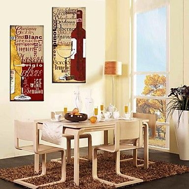 Beautiful Stretched Canvas Art Still Life Wine Culture Set Of 2 U2013 USD $ 49.99.  Stretched CanvasStill LifeCanvas ArtStretchingDining TableDining RoomsWall  Decor Part 22