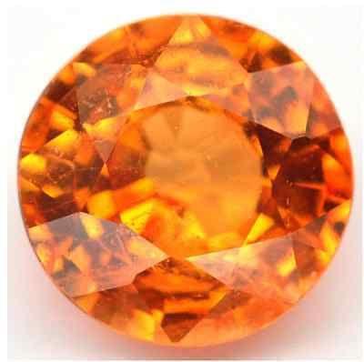 Spessartine 110808: Naturalfine Mandarin Fanta Orange Spessartite Garnet - Round - Nigeria - Video BUY IT NOW ONLY: $45.08